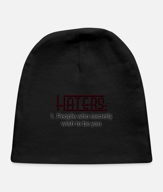 People Baby Hats - Haters - Baby Cap black
