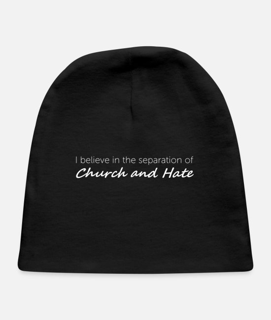 Church Baby Hats - Church and Hate - Baby Cap black