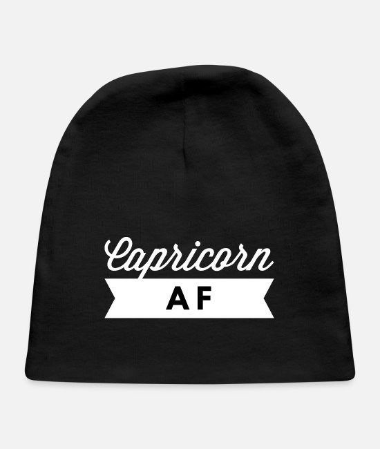 Capricorn Girl Baby Hats - Capricorn AF - Baby Cap black