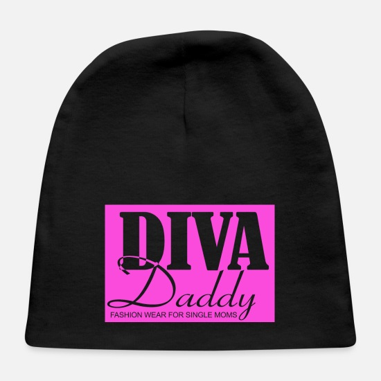 Single Baby Caps - Diva Daddy™ FASHION WEAR FOR SINGLE MOMS - Baby Cap black