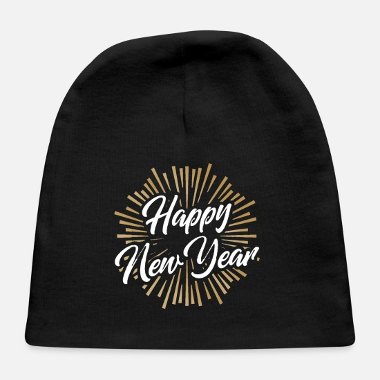 2020 Baby Caps - Happy New Years - Baby Cap black
