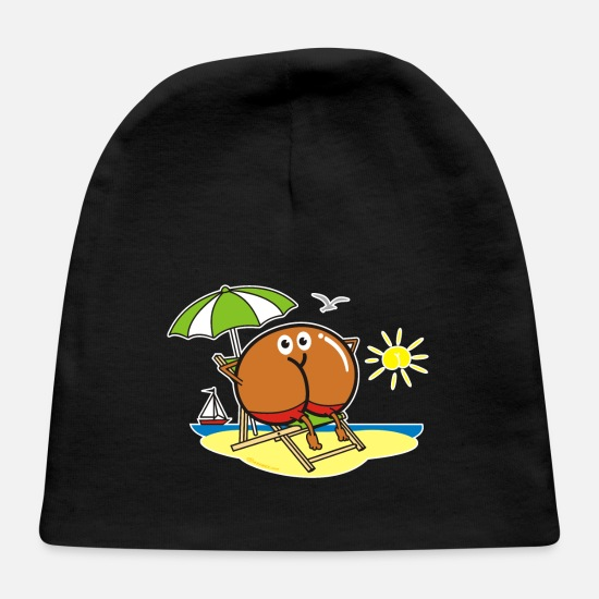 Beach Baby Caps - Assmex Beach - Baby Cap black