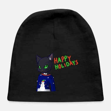Happy Holidays HAPPY HOLIDAYS BLACK CAT - Baby Cap