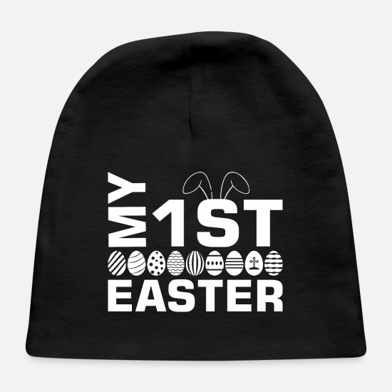 Easter Baby Caps - My First Easter Bunny Easter Egg - Baby Cap black