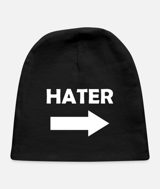 Haters Baby Hats - HATER right - Baby Cap black