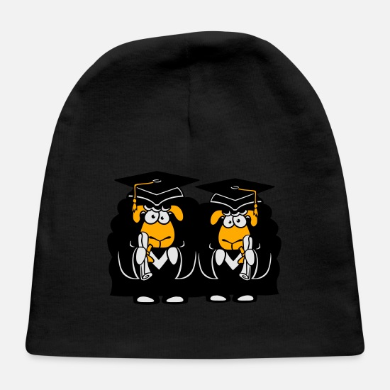 Wool Baby Caps - team couple 2 friends college graduation high scho - Baby Cap black
