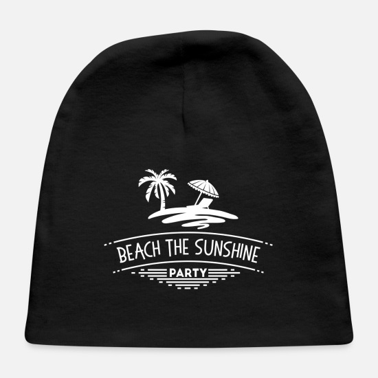Beach Volleyball Baby Caps - Beach Lover - Baby Cap black