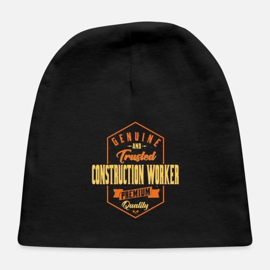 Construction Worker Baby Caps - Genuine and trusted Construction Worker - Baby Cap black