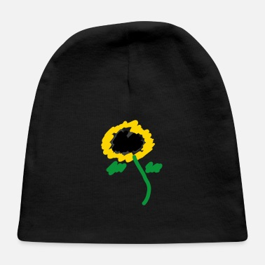 Drawing sunflower - drawing - Baby Cap