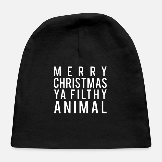 Christmas Baby Caps - Merry Christmas - Baby Cap black