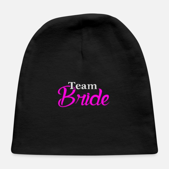Gift For Bachelorette Party Baby Caps - Gift For Bachelorette Party Team Bride - Baby Cap black