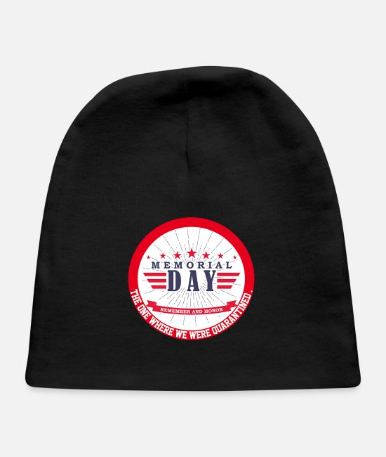 Day Of The Week Baby Hats - Memorial Day T Shirt Memorial Day T Shirt - Baby Cap black