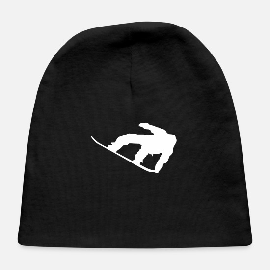 Sports Baby Caps - Snowboarder Silhouette Snowboarding - Baby Cap black