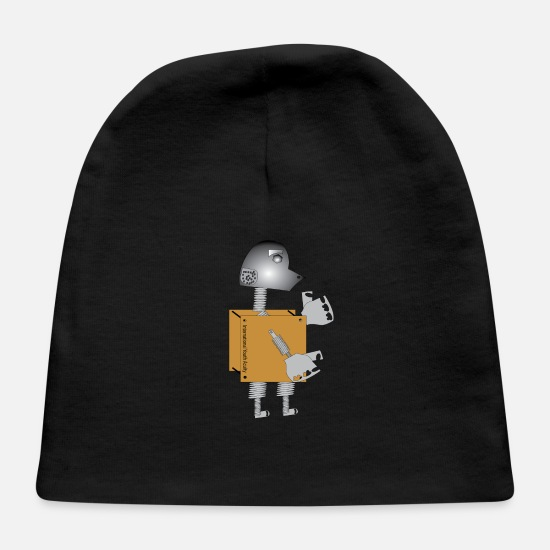 Over Baby Caps - Robot5 - Baby Cap black