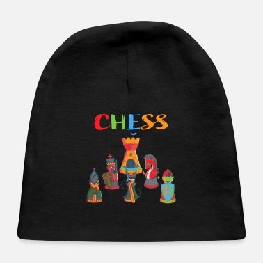 Chess , Chessboard, gift , strategy, Chess Player - Baby Cap