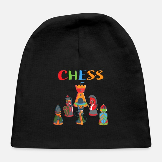 Chess Baby Caps - Chess , Chessboard, gift , strategy, Chess Player - Baby Cap black