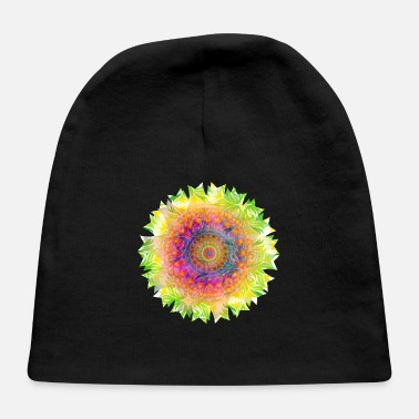 Colorful psychedelic colorful mandala kaleidoscope - Baby Cap