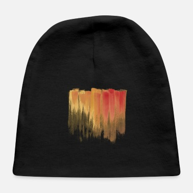 Painting Orange And Red Grunge Paint Flat - Baby Cap