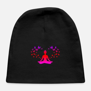 Son Yoga Meditation Butterflies Mindfulness Gift Idea - Baby Cap