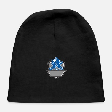 Ice Ice Hockey Goalie Crest Retro - Baby Cap