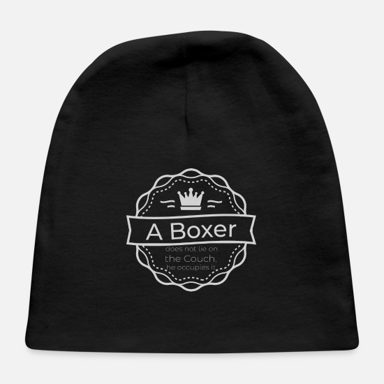 Pet Baby Caps - Boxer couch occupation - Baby Cap black
