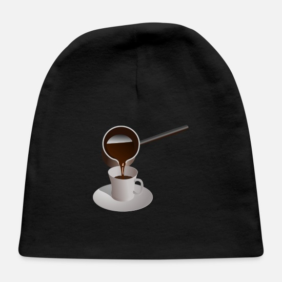 Coffee Bean Baby Caps - coffee - Baby Cap black