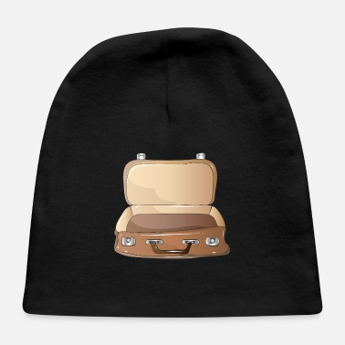 Element Hand drawn retro suitcase in brown leather - Baby Cap