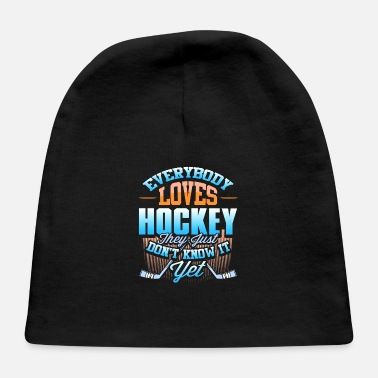 Contact Sport Hockey Game Sport Puck Love Gift - Baby Cap