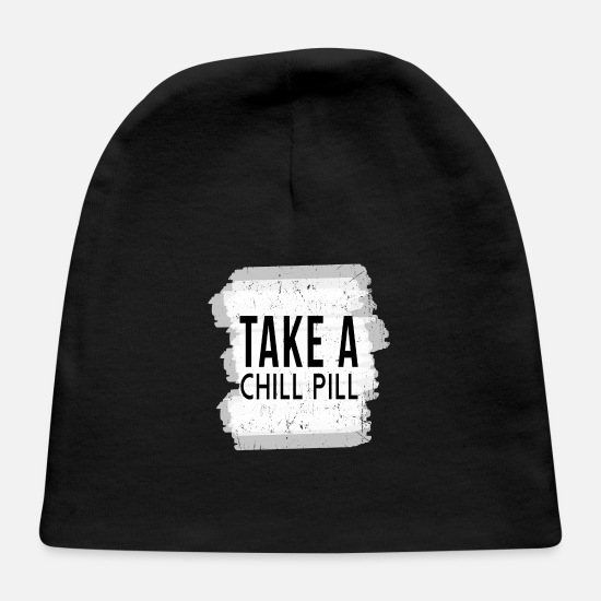 Gift Idea Baby Caps - Chill Pill - Baby Cap black