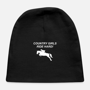 Cowboy Girls Country Girls Ride hard - Cowboy, Western, Texas, - Baby Cap