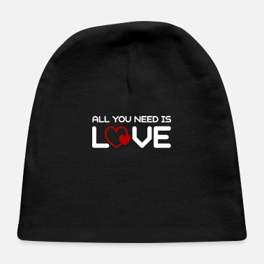 Net Valentine's Day Couples Love JGA Marriage Heart - Baby Cap