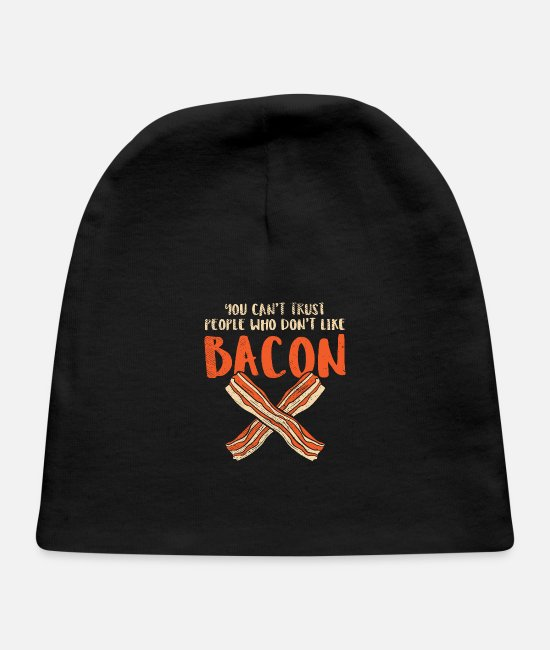 Hog Baby Hats - People Who Don't Like Bacon - Baby Cap black