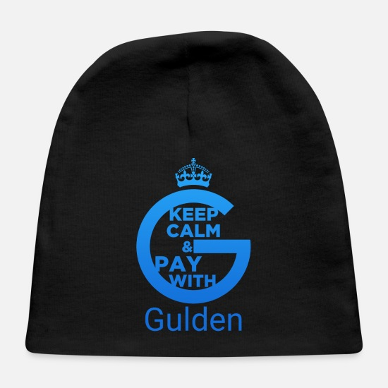 Gulden Cryptocurrency Baby Caps - Keep Calm and Pay With Gulden - Baby Cap black