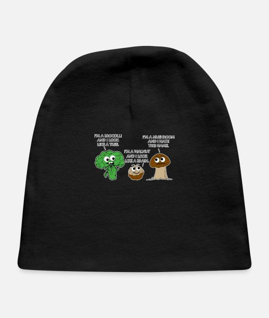 Movie Baby Hats - Mushroom Hate - Baby Cap black