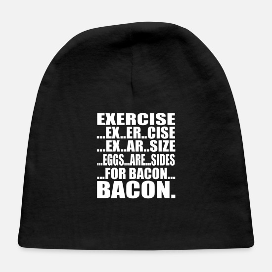 Art Baby Caps - Exercise Bacon - Baby Cap black