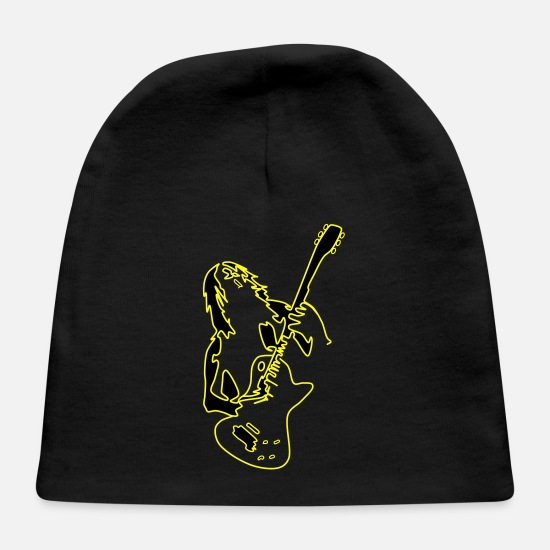 Guitar Player Baby Caps - Rock and roll - Baby Cap black