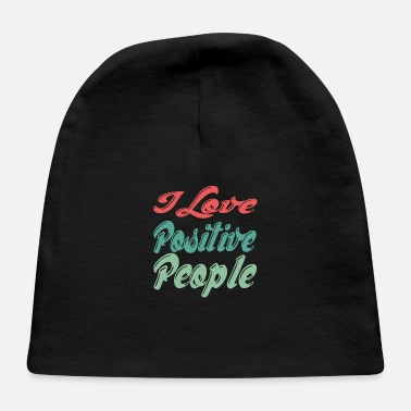 Merry Positive | I love positive people | Vintage - Baby Cap