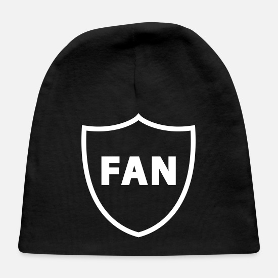 Number Baby Caps - The Fan - Baby Cap black