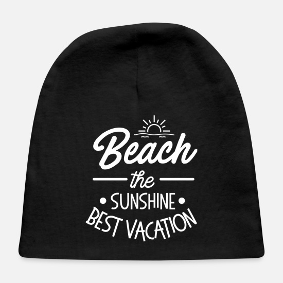 Beach Volleyball Baby Caps - beach please. - Baby Cap black