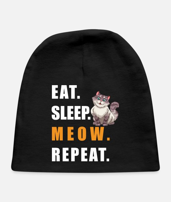 Schland Baby Hats - MEOW - Baby Cap black