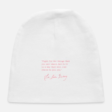 RBG Fight for the things you care about pink Ragla - Baby Cap