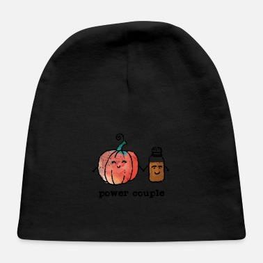 Power Couple Cute Pumpkin And Spice - Baby Cap