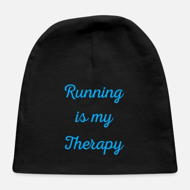 Marathon Running is my therapy saying gift - Baby Cap