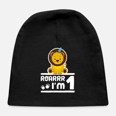 Birthday Cute 1st Birthday Lion Zoo Animal Boy Kid 1 Years - Baby Cap