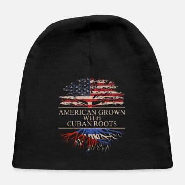 Cuban Roots Design American grown with cuban roots - Baby Cap