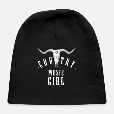Cowboy Girls country music girl longhorn Texas cowgirl cowboy f - Baby Cap