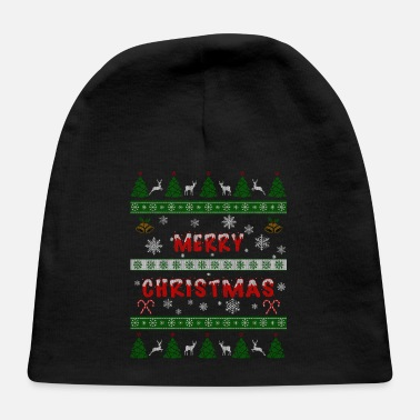 Advent Merry Christmas Ugly Sweater Gift xmas Santa Claus - Baby Cap