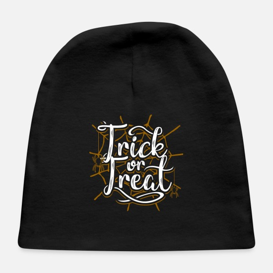 Treat Baby Caps - Trick or Treat Halloween Gift - Baby Cap black