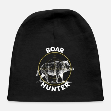 Hog Boar Hunter Hog Hunting Sight T-Shirt Pig Tee Shirt - Baby Cap