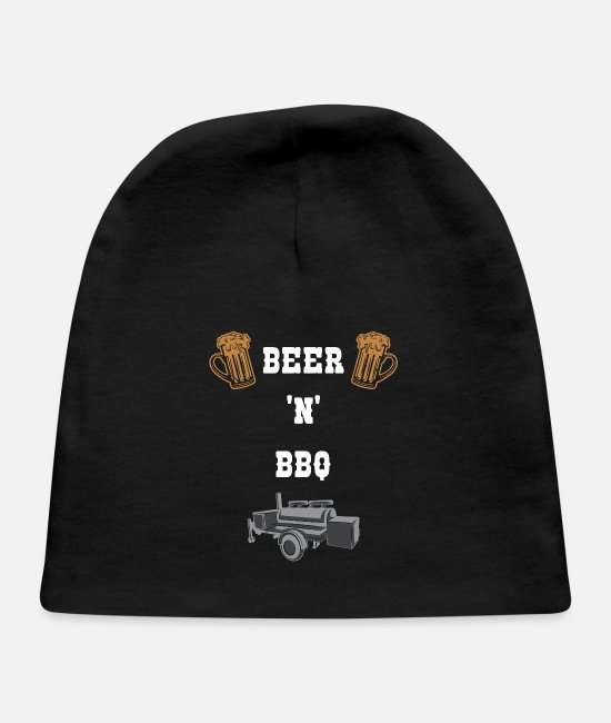 Grillmaster Baby Hats - Beer and BBQ - Baby Cap black